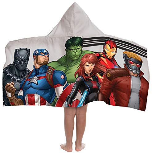 Jay Franco Marvel Avengers Hooded Bath/Pool/Beach Towel, Gray