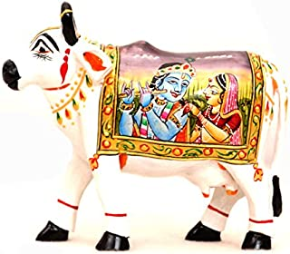 Vrindavan Bazaar Cow Front Mouth 4 inch for Home Deor | Worship Accessory