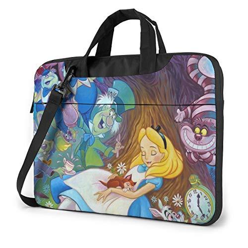14 Inch Laptop Bag Beauty Alice in Wonderland Laptop Briefcase Shoulder Messenger Bag Case Sleeve