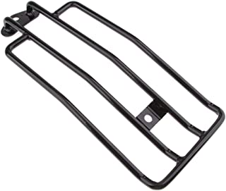 D DOLITY Motorcycle Sissy Bar Luggage Rack Tail Box Saddlebag Shelf for Harley Sportster XL883 XL1200 X48 (Black)