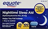 Equate - Nighttime Sleep Aid 25 Milligram, 100 Mini-Caplets