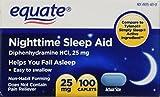 Equate - Nighttime Sleep Aid 25 Milligram, 100...