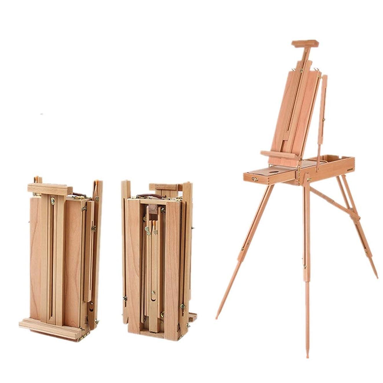 ピック春ハリウッドイーゼル 絵画スケッチ表示20x11x50cm用引き出し調節可能な木製三脚イーゼルスタンド付き三脚イーゼル 木製、ポータブル、折りたたみ式 (Color : Natural, Size : 20x11x50cm)
