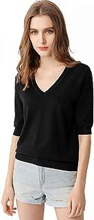 Women's Short Sleeve Knit Sweater Top