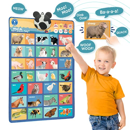 LEARNING BUGS What do Farm Animals Say  Interactive Educational Farm Animals Poster  Hear 32 Farm Animals Name  Real-Life Sound and Child Friendly Facts for Young Learners Aged 1 to 5 Years Old