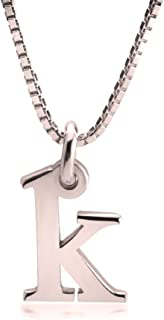 Delicate Initial Necklace - Personazlied Tiny Letter Pendant with Any Letter in Rose Gold Plated