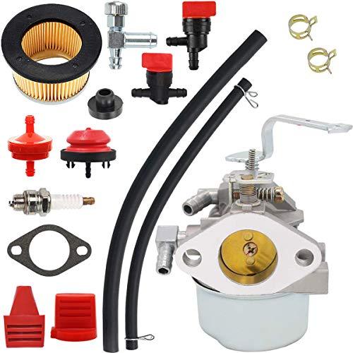 ZAMDOE Kit de carburador 640152 para Tecumseh 640152A 640051 640112 640140 HM80 HM90 HM100 LH318XA LH358EA Cortacésped Quitanieves, con Junta de Filtro de Aire