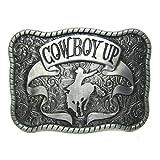 MASOP Rodeo Cowboy Up Horse Rider Attitude Belt Buckle Western Classic Buckles