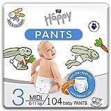 bella baby Happy Pants Gr.3 Midi, 4er Pack (4 X 26 Stück): Höschenwindeln Für Kinder 6-11 kg, Ideal Beim Töpfchentraining