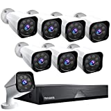 TOGUARD 8CH 1080P Security Camera System Home Outdoor Lite Wired DVR Security Surveillance Cameras IP66 Weatherproof CCTV Camera IR Night Vision Remote Access Motion Email Alert (No Hard Disk Drive)