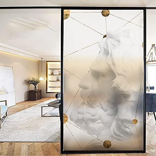 YMXDXTY Ventana de privacidad Película autoadhesiva Baño electrostático Ventana Vidrio Etiqueta Vidrio Frosted Película Anti-Peeping WC Baño Papel Anti-Luz y Translúcido