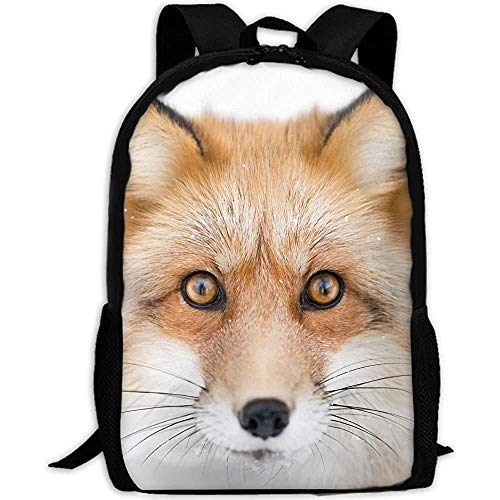 Foxes Head Glance Adult Travel Backpack School Casual Daypack Oxford Outdoor Laptop Bag College