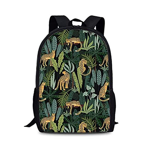 Mochila de estilo popular de leopardo 3D al aire libre con estilo bolsa de senderismo portátil para la escuela de niños y niñas mochila de alta capacidad, a01, 28cm X 13cm X 44cm,