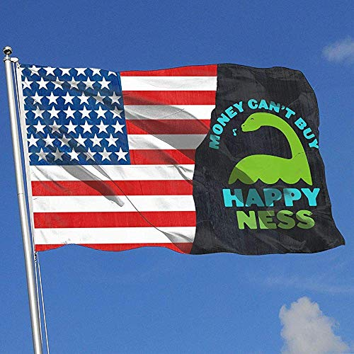 wallxxj Bandera del Jardin El Dinero No Puede Comprar Happy Ness Breeze Flag Yard Banner Single Layer Yard Flag Garden Flag Yard Flag 150X90Cm