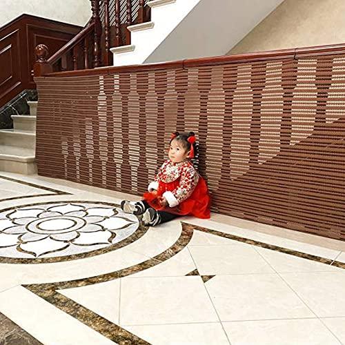 Negal Net Malla De Malla Balcón Patios Y Barandilla Red Stairway Stay Stairway Beaching Fence Mesh Protection Net para Niños Mascotas Y Juguetes(Size:1m x 1m/3.28ft x 3.28ft,Color:marrón)