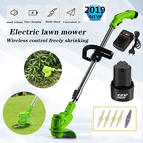 New zhaokai Electric Grass Trimmer Lithium Battery Lawn Trimmer Electric Grass Trimmer Cordless Free...