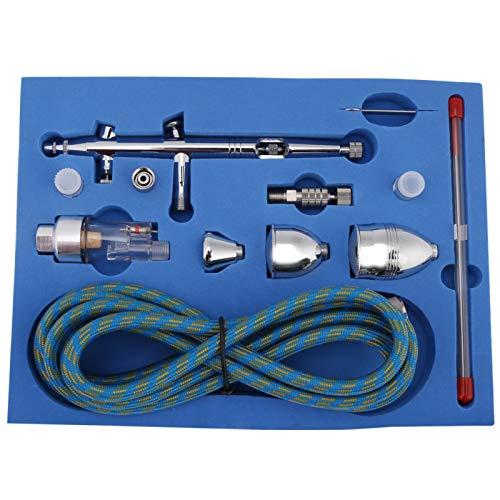Mini kit de aerógrafo, kit de sistema de aerógrafo multiusos, juegos de aerógrafo profesionales, boquillas de 0,3 mm 0,2 mm 0,5 mm 2 cc 5 cc 13 cc juego de tubos de tazas