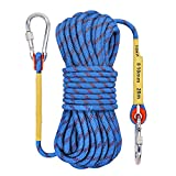 Outdoor Rock Climbing Rope 10mm Escape Rope Ice Climbing Equipment Fire Rescue Parachute Rope 10M(32ft) 20M(64ft) 30M (96ft)