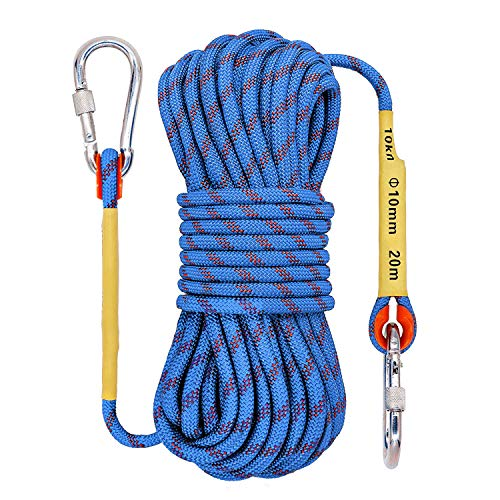 Outdoor Rock Climbing Rope 10mm Escape Rope Ice Climbing Equipment Fire Rescue Parachute Rope 10M32ft 20M64ft 30M 96ft