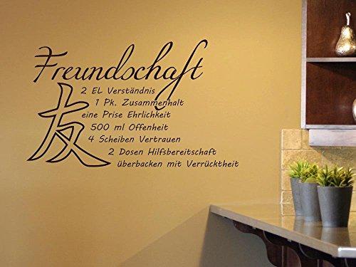 GRAZDesign Wandtattoos Küche Esszimmer witzig, Aufkleber für Küche Schriftzug, Wandtattoo Küche Freundschaft Rezept / 95x57cm / 049 königsblau
