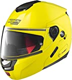 Nolan - Casco modulable N90.2 de alta visibilidad N-Com, color amarillo fluorescente M Amarillo