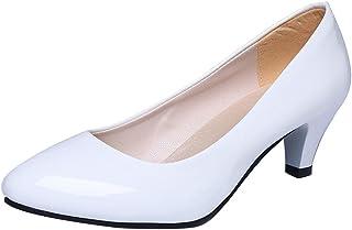 31bfc813145948 Chaussures à Talons Bas, GreatestAPK Femme Nude Shallow Mouth Office Talons  de Travail Élégant