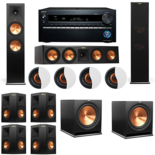 Why Should You Buy Dolby Atmos 7.2.4 Klipsch RP-280F Tower Speakers R115SW with Onkyo TX-NR1030