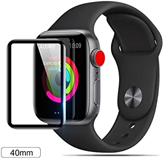 BALADOG Screen Protector for Apple Watch Series 4 (40mm) Surface Hardness Full Coverage Glue Tempered Glass Screen Protector -Black