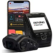 """Rexing V1-4K Ultra HD Car Dash Cam 2.4"""" LCD Screen, Wi-Fi, 170° Wide Angle Dashboard Camera Recorder with G-Sensor, WDR, Loop Recording, Supercapacitor, Mobile App, 256GB Supported"""