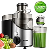 Juicer, Aicook Upgrade Cooling Plate Wide Mouth Centrifugal Juicer Machine for Whole Fruit and Vegetable, 3 Speed Mode Extractor Juicer with Anti-drip Function, BPA-Free, Easy Clean
