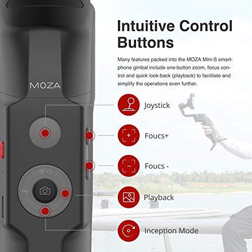 MOZA Mini-S スマホジンバル gimbal スマートフォン用 スタビライザー 折りたたみ 3軸 Youtuber Vlog用 iPhone ジンバル 最大負荷260g 【MOZA正規品&1年間保証&日本語説明書】