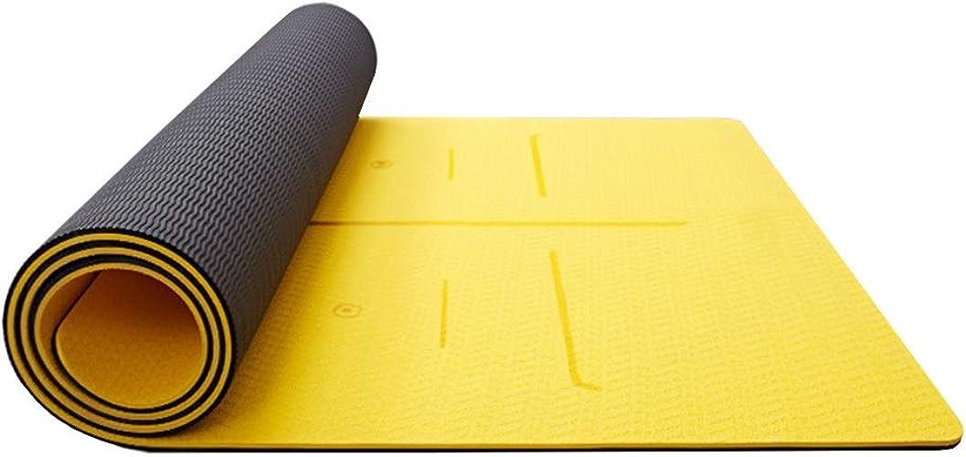 DGLIYJ Tapis De Yoga TPE Débutants Antidérapants Hommes Et Femmes Fitness épaississement élargi Long Tapis De Yoga à La Maison (9 Couleur en Option) (Couleur   D, Taille   6MM)