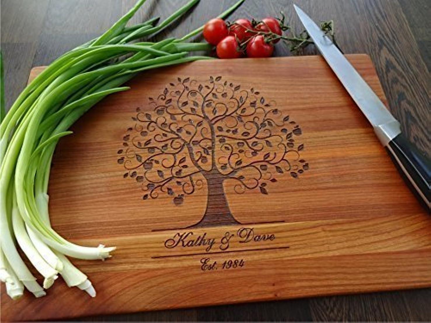 FAMILY TREE handmade cutting board. Wedding gift. Laser engraved cutting board. Birthday gift