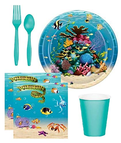Why Should You Buy FAKKOS Under The Sea Ocean Theme Birthday Party Baby Shower Supplies for 16 Guest...