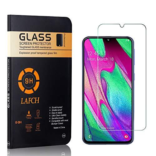 4 Stück Panzerglasfolie Schutzfolie Kompatibel mit Galaxy A40, LAFCH HD Klar Gehärtetem Glas Displayschutzfolie für Samsung Galaxy A40