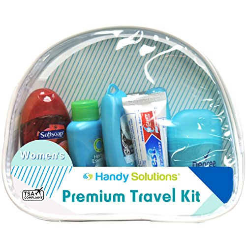 Handy Solutions Premium Women's 7Piece Travel Size Kit, clear, 1 Count