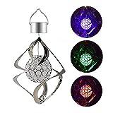 2pack solaire LED Wind Chimes Lumière, mouvement de rotation lumière colorée de...