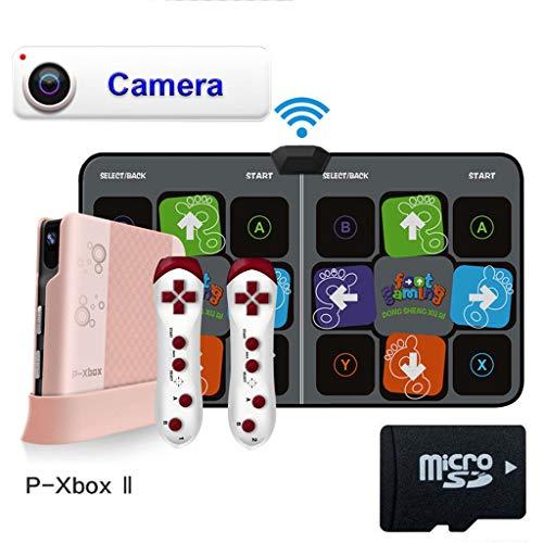 Hoge kwaliteit Wireless dansmat met somatosensorische camera Double TV HDMI Somatosensorische spelcomputer Ingebouwde groot wild -dansmat game tv (Color : Gray, Size : 11MM)