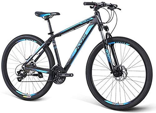 WJJH Mountainbikes 27,5-Zoll-hydraulische Scheibenbremse Mountainbike, 24-Gang-Aluminiumlegierung MTB Trail Fahrrad, Schultersteuerungssperre Federgabel,A