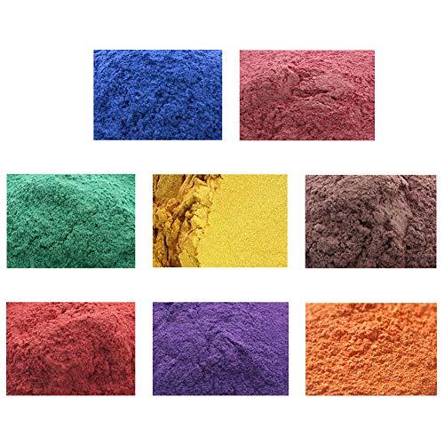 erhumama 8 couleurs 20 g de savon semi-naturel minéral mat poudre de mica ombre à paupières blush teinture DIY savon