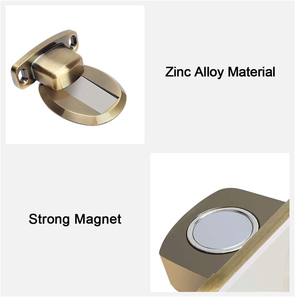 Montaggio a Pavimento a Vite Black PHOEWON Fermaporta Magnetico in Metallo Calamite Ferma Porta Retro con Adesivo 3M 2PCS Viti a Scomparsa Fermaporta Porta Resistente