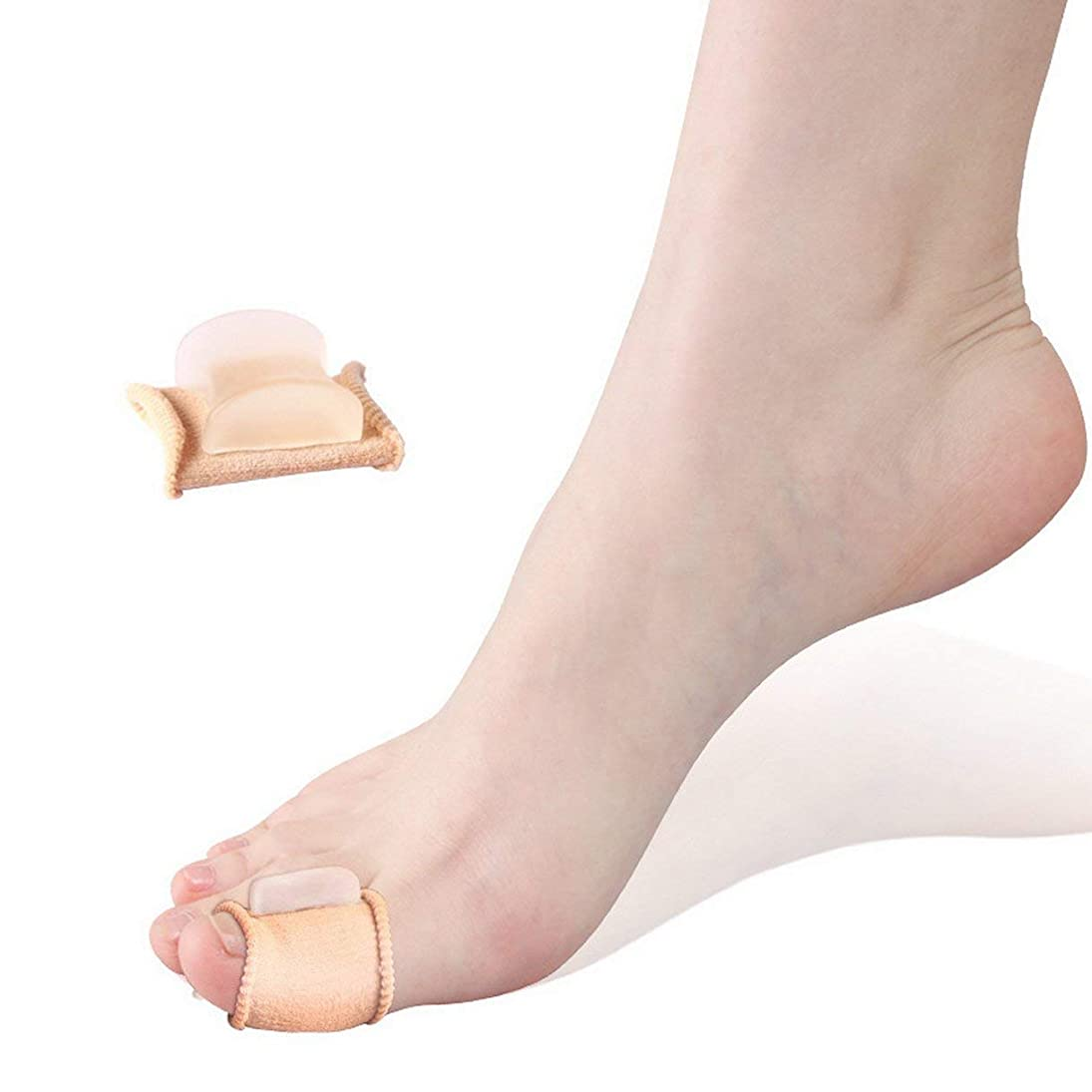 動作上下するムスタチオFoot Care Hallux Valgus Silicone Toe Separation Protector Hallux Valgus Guard Cushion Bunion Toe Separator