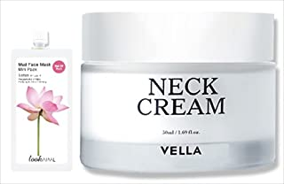 Vella Korean Natural Firming Neck Cream for Neck and Decollete Specially Formulated to Restore Firmness for a Youthful Look Bundle with 1 Free Mud Mask - 30 gm Randomly Picked Flavor