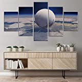 SDFGHY Canvas Wall Art 5 Pieces Destiny Ball Posters Painting Decor Artwork Wallpaper Mural Pictures for Living Room Office Home Decoration Gift Framed(150X80cm)