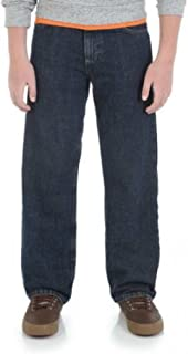 Wrangler Husky Boys Loose Fit 5-Pocket Jean Size 10 Husky Classic Blue Denim