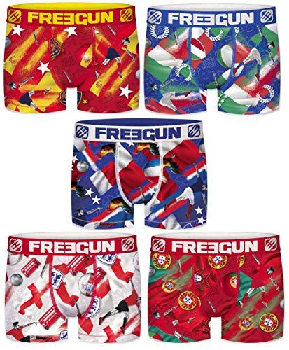 FREEGUN Boxer, Shorty Homme (Lot de 5) (L, Serie 1 Football)