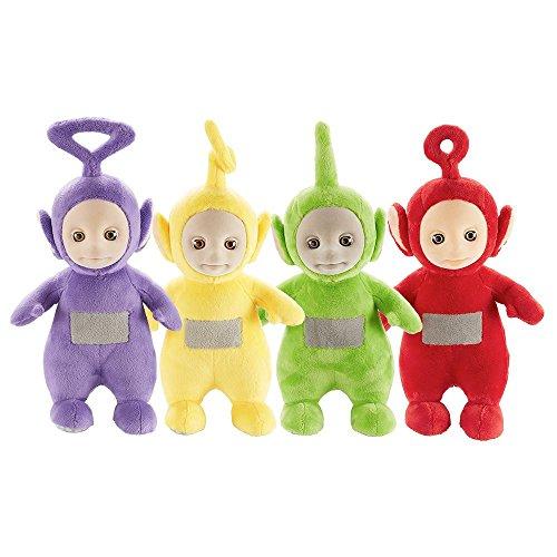 Teletubbies Set of 4 26cm Talking Po & Laa-Laa & Dipsy & Tinky Winky Soft Plush Toy