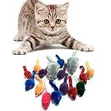 PietyPet Katzenspielzeug, Mäuse Spielzeug Mouse Katze Haustier Weich Flauschig für Katzen Kitty 16 Stück Mehrfarbig