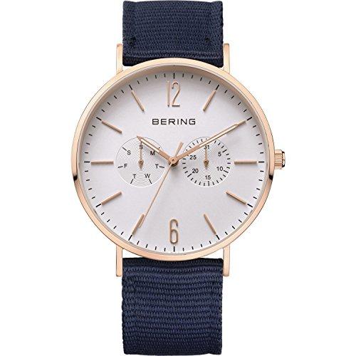 BERING Herren-Armbanduhr Analog Quarz Nylon 14240-864