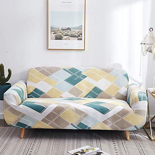 Funda de sofá geométrica elástica elástica Moderna Funda de sofá para Silla Fundas de sofá para Sala de Estar Protector de Muebles A10 4 plazas